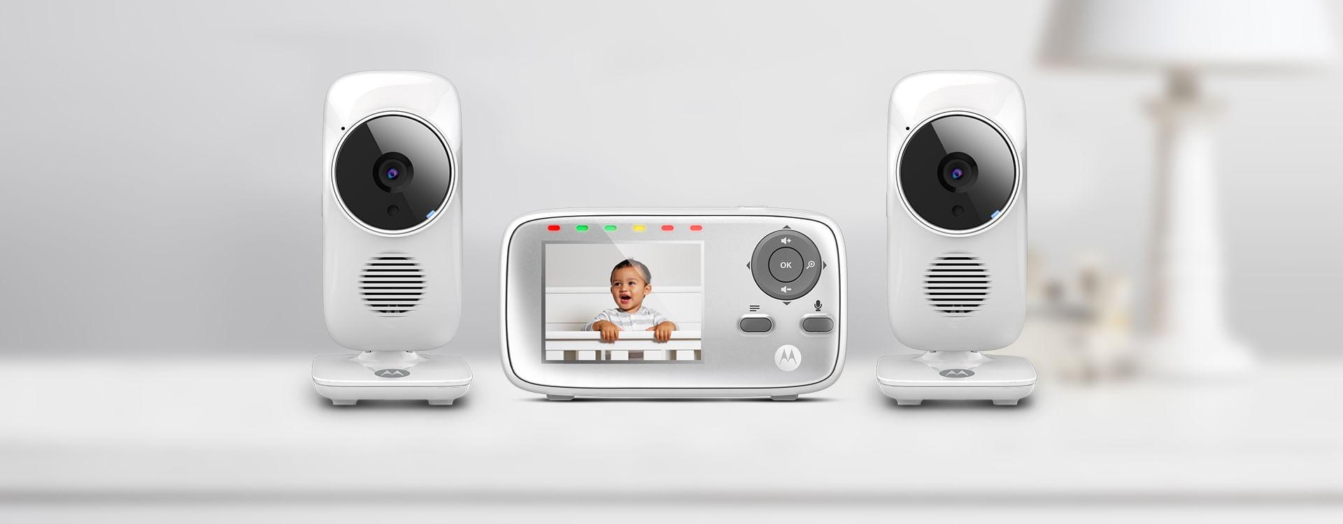 "MBP483-G Brand New Motorola 2.8/"" Video Baby Monitor"