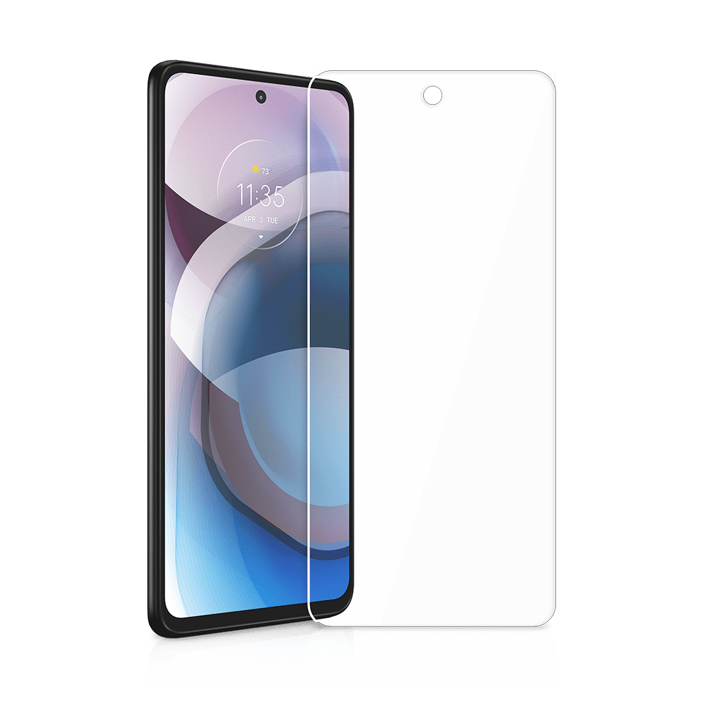itskins glass screen protector for motorola one 5g ace-clear