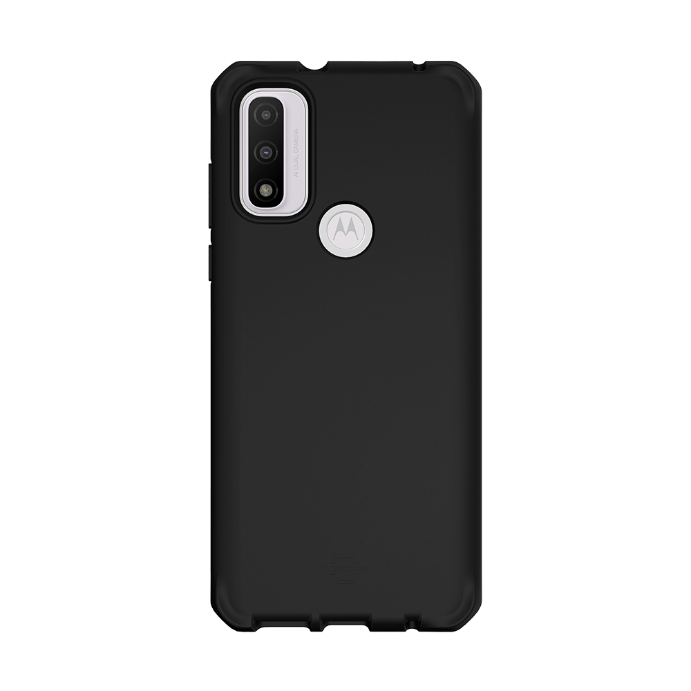 itskins spectrum silk antimicrobial case for moto g pure-black