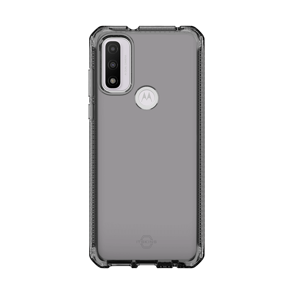 itskins spectrum clear antimicrobial case for moto g pure-smoke